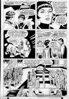 SWAN, CURT/ GEORGE KLEIN - Adventure Comics #368 pg 6, Superboy, Supergirl & Legion of Superheroes team Comic Art