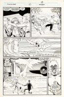 ROGERS, MARSHALL / TERRY AUSTIN - Excalibur #10 pg 15,  Meggan, Phoenix II vs Nazi universe Kitty Pryde 1989 Comic Art