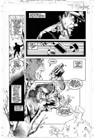 MCFARLANE, TODD - Spider-Man #12 page 19, Wolverine on the attack!  Comic Art