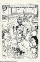 McFARLANE, TODD - Infinity Inc. #29 large cover, Wildcat and young JSA Comic Art