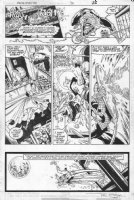 MCFARLANE, TODD - Amazing Spider-Man #306 pg 22, Spidey web-slinging vs Humbug Comic Art