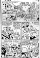 KIRBY, JACK / AYERS inks - Sgt Fury #13 large pg 9, Captain America & Bucky vs Nazi solders Comic Art