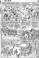 KIRBY, JACK - Sgt Fury #13 large pg 12, 1st Fury & Captain America, Cap & Bucky fight, Fury & Howlers march to base Comic Art