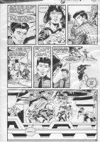 GIBSON, IAN / JOE STATON - DC Millennium #7 pg 14, GL Corp, Infinity Inc Comic Art