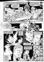 GIBSON, IAN finishes - DC Millennium #5 page 12 Comic Art