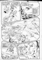 GIBSON, IAN finishes - DC Millennium #2 page 9 Comic Art
