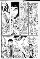 GIBSON, IAN finishes - DC Millennium #6 page 19 Comic Art