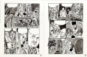 THORNE, FRANK - Vampire Tales Mag. art - Dracula's Hannibal King - pgs 7 & 8 of 12 for unused story,  Night Of The Burmese Bat!   Comic Art
