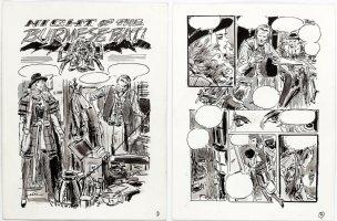 THORNE, FRANK - Vampire Tales Mag. Art - Dracula's Hannibal King - pgs 1 & 2 of 12 pg unused story,  Comic Art