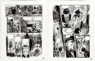 THORNE, FRANK - Vampire Tales - Dracula's Hannibal King - pgs 3 & 4 of 12 for unused story,  Night Of The Burmese Bat!   Comic Art