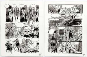 THORNE, FRANK - Vampire Tales - Dracula's Hannibal King - pgs 5 & 6 of 12 for unused story,  Night Of The Burmese Bat!   Comic Art