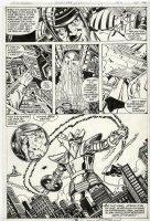 PEREZ, GEORGE - Avengers #198 pg 16, large Ronin vs Capt America, Thor, Wasp, Yellow Jacket Comic Art