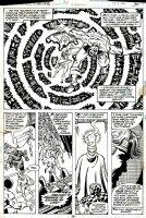 PEREZ, GEORGE - Marvel Two-In-One #58 pg 30, half splash- Pegasus Project: Thing, Thundra, Quasar, Aquarian, Black Goliath Comic Art