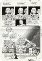 PEREZ, GEORGE - Crisis #5 pg 12, Golden Age Superman, JLA JSA Legion Titans etc Comic Art