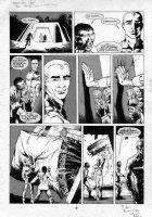 DAVIS, ALAN - Warrior Mag. - ALAN MOORE' Miracle-Man large pg 6, w the Marvel Man lettering Comic Art