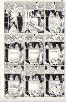 GIBBONS, DAVE - Watchmen #11 pg 20, Rorschach & Nite-Owl in all panels! recap case & break password + the color art! Comic Art