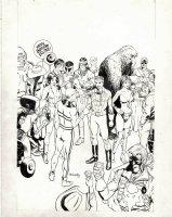 HAMPTON, BO - Miracle Man in Eclipse Promo Ad Pinup w/ Airboy Heap + 1987 Comic Art