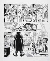 DAVIS, ALAN & ALAN MOORE - 2000 AD #352 pg 3 - DR & Quinch, meet the girlfriend! Larger size art Comic Art