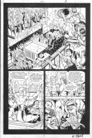 ORDWAY, JERRY - Alan Moore written Tom Strong #21 half splash pg 6 Tom Stone, Liberty Lightening & Glory Girls Comic Art
