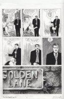CAMPBELL, EDDIE - From Hell #6 chapter 9 pg 20, Prince Eddy weak with Jem Stephen, ornate Golden Lane sign Comic Art