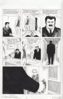CAMPBELL, EDDIE - From Hell #6 chapter 9 pg 26, Inspector Fred Abberline (Johnny Depp in film) sees psychic Robert Lees Comic Art