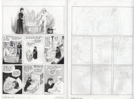 CAMPBELL, EDDIE - From Hell #4 chapter 7 pg 9 & pencil page on back - Jack victim Annie Chapman bathing Edward  the Pensioner  Stanley Comic Art