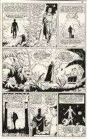 GIBBONS, DAVE - Watchmen #11 pg 10, Ozymandias & pet in hide-out, single page Origin, quest transforms Veidt, 1987 Comic Art