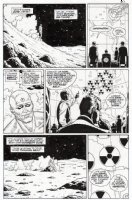 GIBBONS, DAVE - Alan Moore's Watchmen #3 pg 27 - Dr Manhattan - leads to origin, & President Nixon  Comic Art