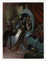 STAPLES, GREG - 2000AD #951 Slaine painted back-cover Comic Art
