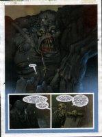 STAPLES, GREG - 2000AD #951 Slaine painted pg 24 Comic Art