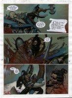 STAPLES, GREG - 2000AD #953 Slaine painted pg 23 Comic Art