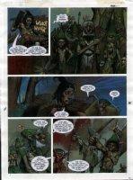 STAPLES, GREG - 2000AD #953 Slaine painted pg 28 Comic Art