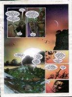 STAPLES, GREG - 2000AD #954 Slaine painted pg 24 Comic Art