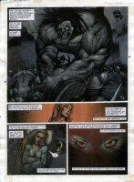 STAPLES, GREG - 2000AD #955 Slaine painted pg 28 Comic Art