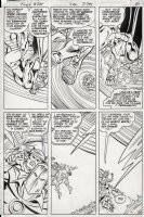 INFANTINO, CARMINE - Flash #305 pg 26, incredible pag with the Flash, Golden Age Flash and Doctor Fate! Comic Art