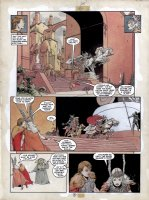 VESS, CHARLES - Thor, Raven Banner, Marvel Graphic Novel #15 large painted pg 17, one of few pages with Thor Comic Art