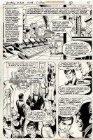 SIMONSON, WALT signed / DICK GIORDANO - Batman #300 pg,  Last Batman Story  Earth-2 Batman & Robin + Dick Grayson 1978  Comic Art