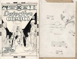 GIORDANO, DICK / WALT SIMONSON - signed - Detective Comics #450 cover, SIMONSON'S   Cape and Cowl Deathtrap  1975 Comic Art