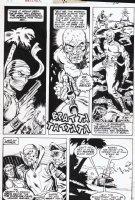 SIMONSON, WALT - Master of Kung Fu #24 page, Fu Manchu, scared Nazi Comic Art
