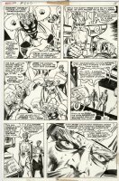 SIMONSON, WALT - Thor #262 pg 15, Thor, Lady Sif, Fandral bound + Odin 1977 Comic Art