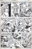 SIMONSON, WALT - Thor #260 pg 15, the very hot Enchantress and Balder vs Executioner Comic Art