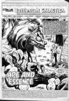 SIMONSON, WALT - Battlestar Galactica #17 pg 1 Splash, large alien creature Comic Art