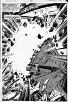SIMONSON, WALT - Battlestar Galactica #13 pg 23 splash - Space battle Comic Art