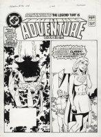GIFFEN, KEITH - Adventure Comics #492 cover, Legion of Super-Heroes and Supergirl, plus Captain Marvel! Comic Art