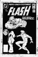 GIFFEN, KEITH - Flash #315 cover, Flash vs Goldface! Comic Art
