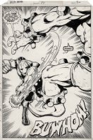 GIFFEN, KEITH - Iron Man #114 pg 30 splash, Iron Man defeats big bad Comic Art