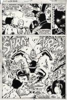 GIFFEN, KEITH - Iron Man #114 pg 10 semi-splash, Iron Man Avengers vs Unicorn Comic Art