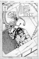 GIFFEN, KEITH - Video Jack #4 cover, VJ vs Alien Queen 1988 Comic Art