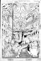 GIFFEN, KEITH - Video Jack #4 pg 11 Splash - meeting Alien Queen 1988 Comic Art