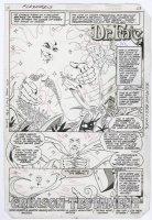GIFFEN, KEITH - Flash #313 pg 1 Splash, Dr Fate story Comic Art